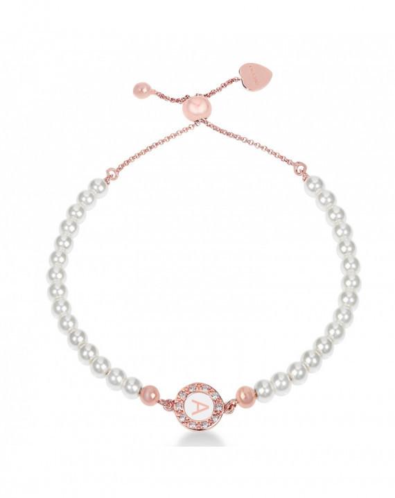 Bracciale regolabile in perle