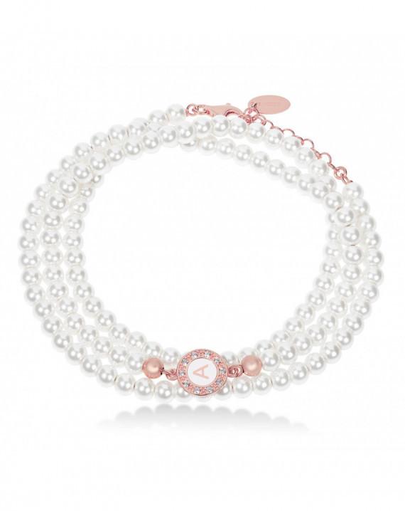 Bracciale a 3 fili in perle